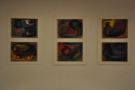 The paintings that adorn the walls are a collaboration with the artists colony next door.