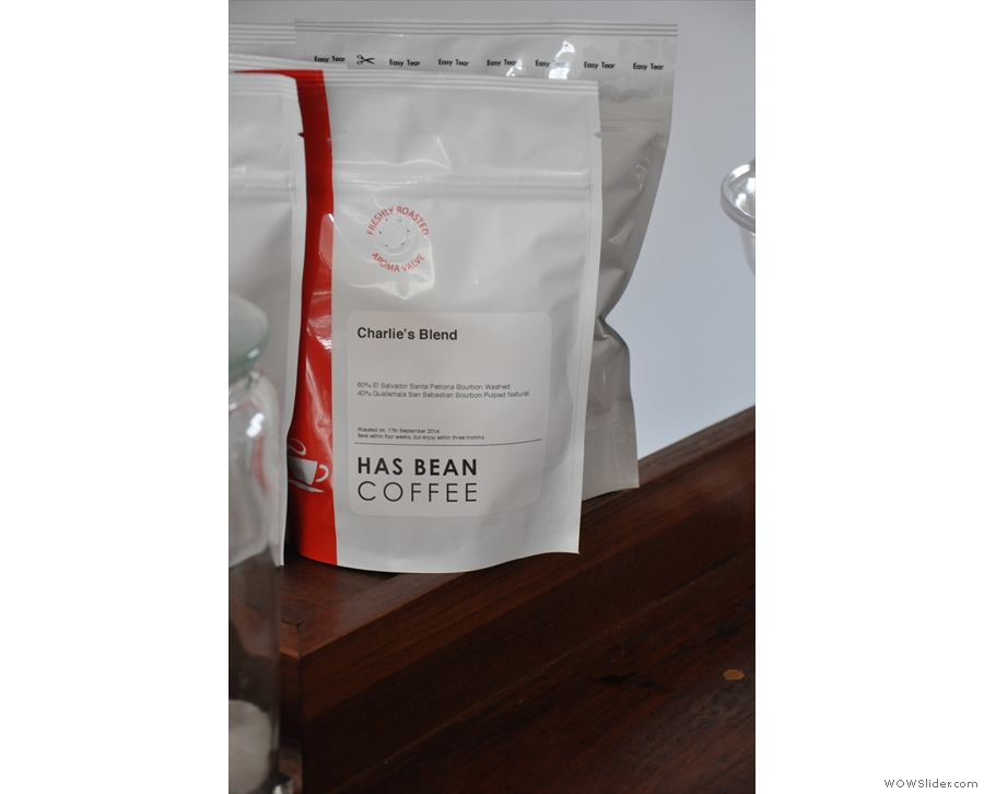 Charlie's very own house blend. I was given a bag to take home with me!