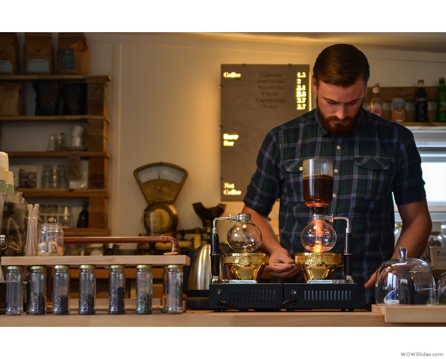 There may also be some of this... (that's Luke, kicking up a storm with a syphon).