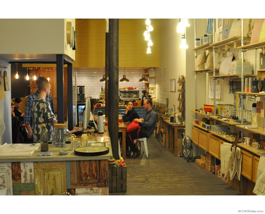 ... while at the back is the cafe.