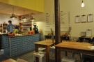 The lovely, blue-tiled counter is right at the back.