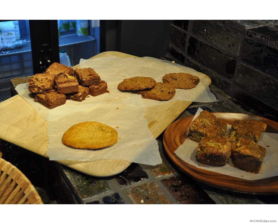 The cookie and brownie selection looked good too...
