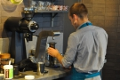That's my Aeropress being filled with water.