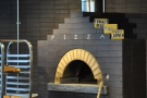 The pizza oven in more detail.
