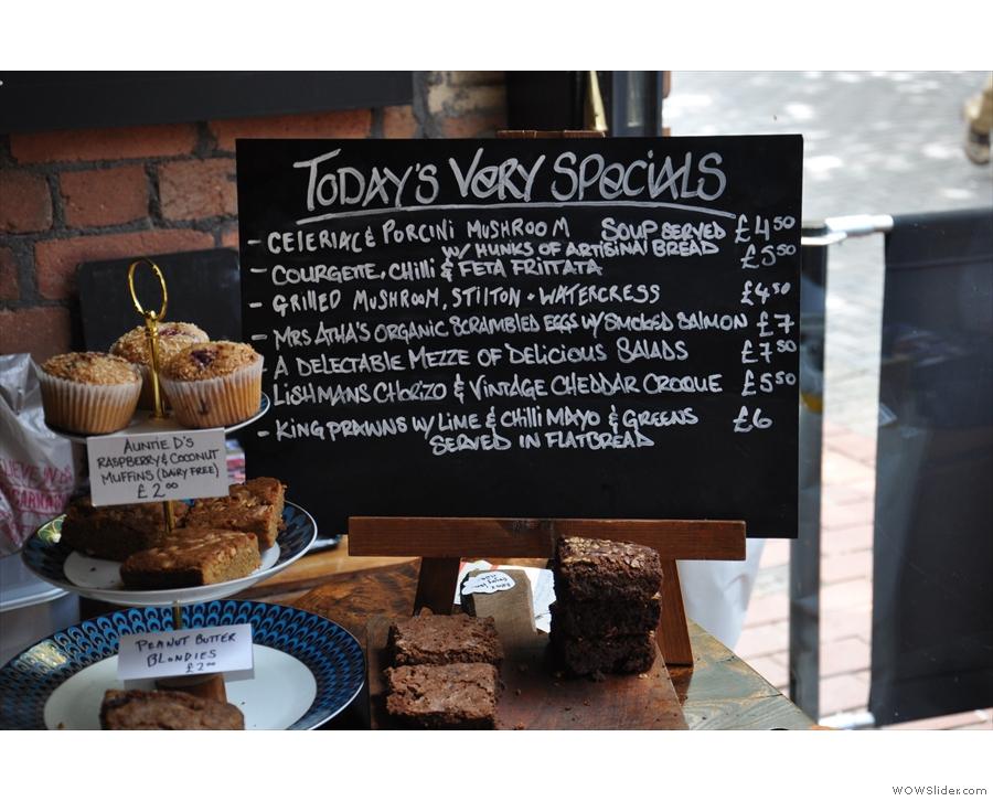 Most places have a specials menu. Mrs Atha's has a 'Very Specials' menu.