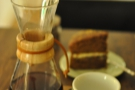 I went for the guest roaster, The Barn, through the Chemex, seen here with my cake.