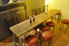There's also a communal table at the far end...