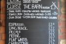 The coffee menu is pretty impressive too...