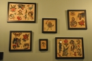 Some of the artwork which adorns the basement walls.