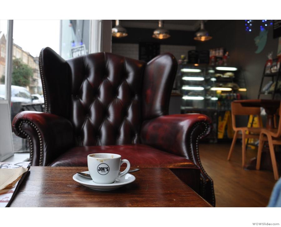 January: Joe's Coffee in Bristol, the espresso-eye view
