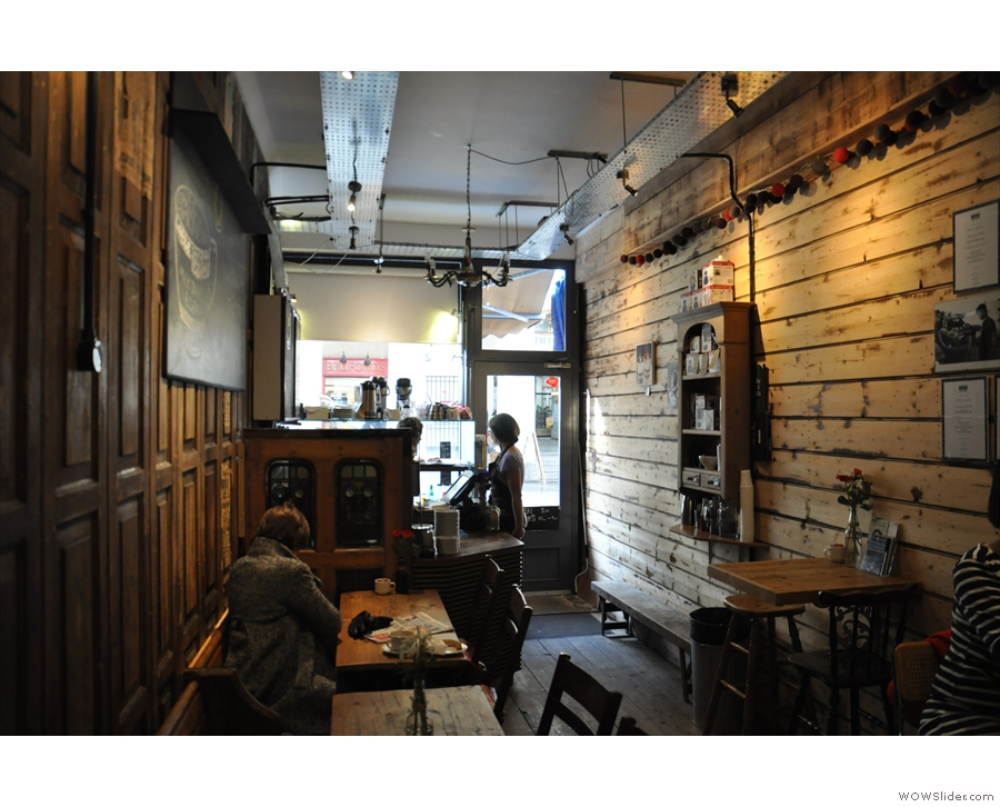 February: the delightful interior of Devon Coffee, Exeter