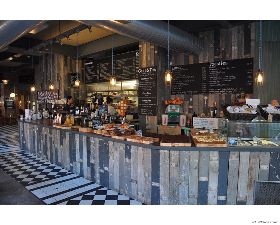 March: the vast expanse of the counter at The Boston Tea Party, Birmingham