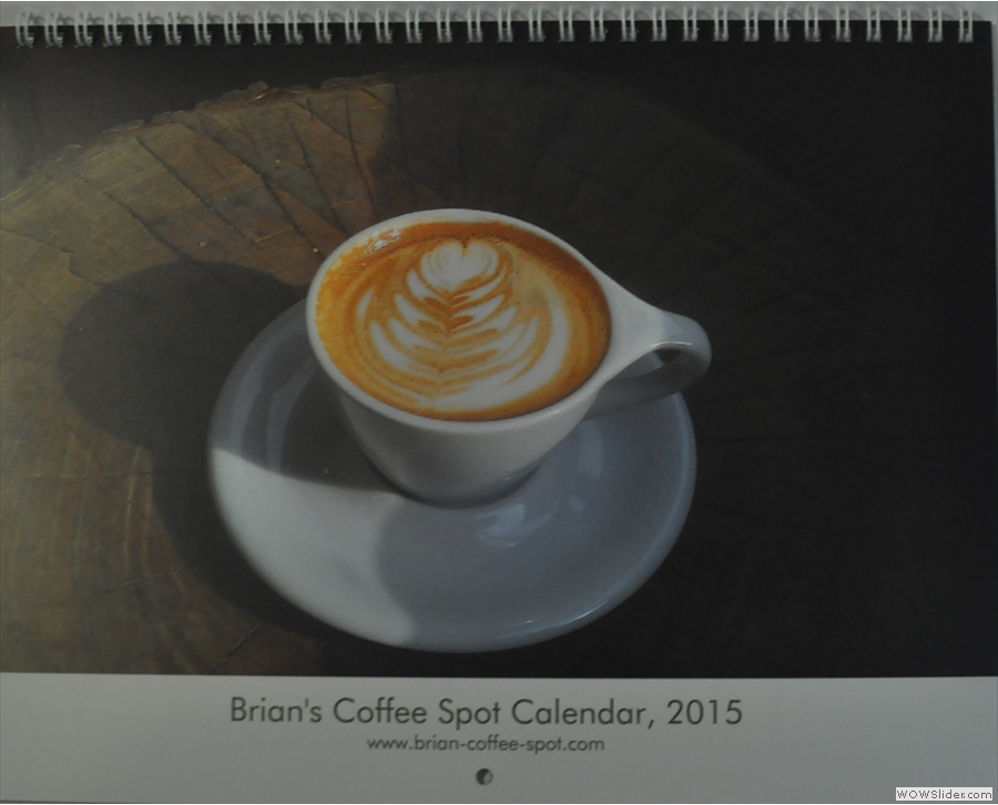 The cover of the 2015 Calendar, from the sample, just back from the printers