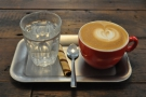 Last, but not least, my decaf flat white, just as beautifully presented as my piccolo.