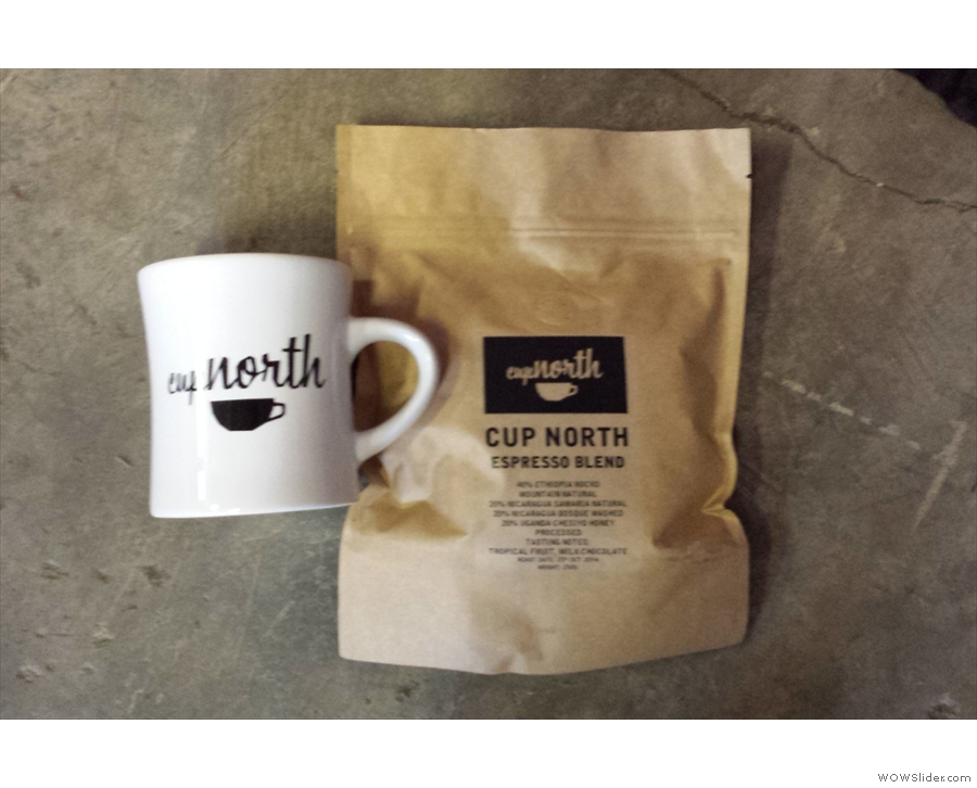 Meanwhile, I got this mug and bag of the Cup North blend just for turning up...