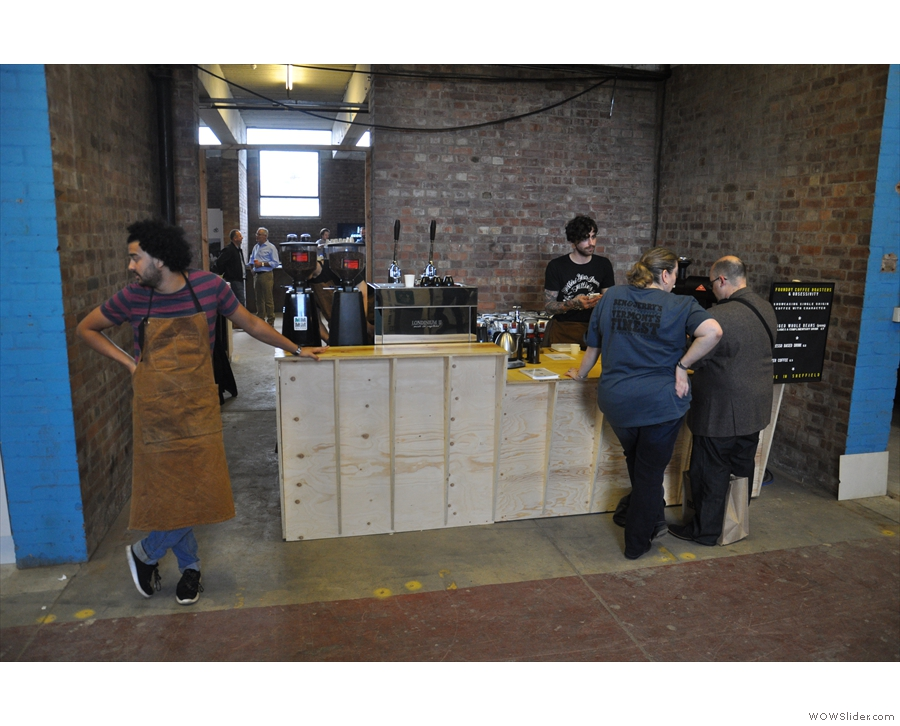 From the other side of the Pennines, Foundry Coffee Roasters popped over from Sheffield.