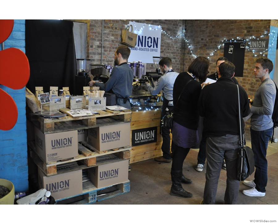 And finally, tucked away in a corner was Union Hand-roasted, another really popular stand.