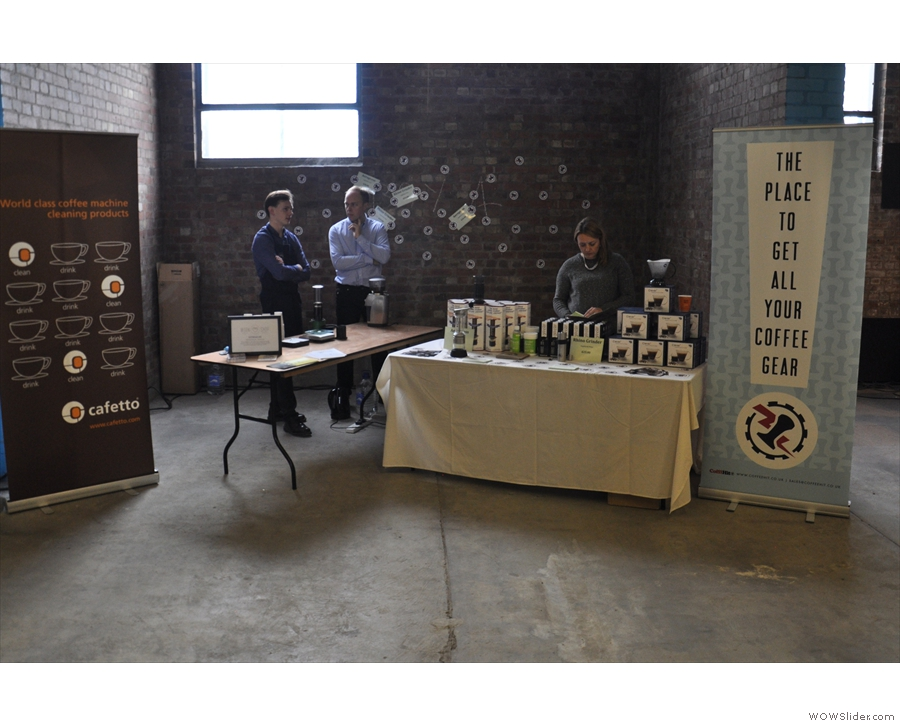Coffee Hit was there, selling a limited range from its fabulous on-line store.