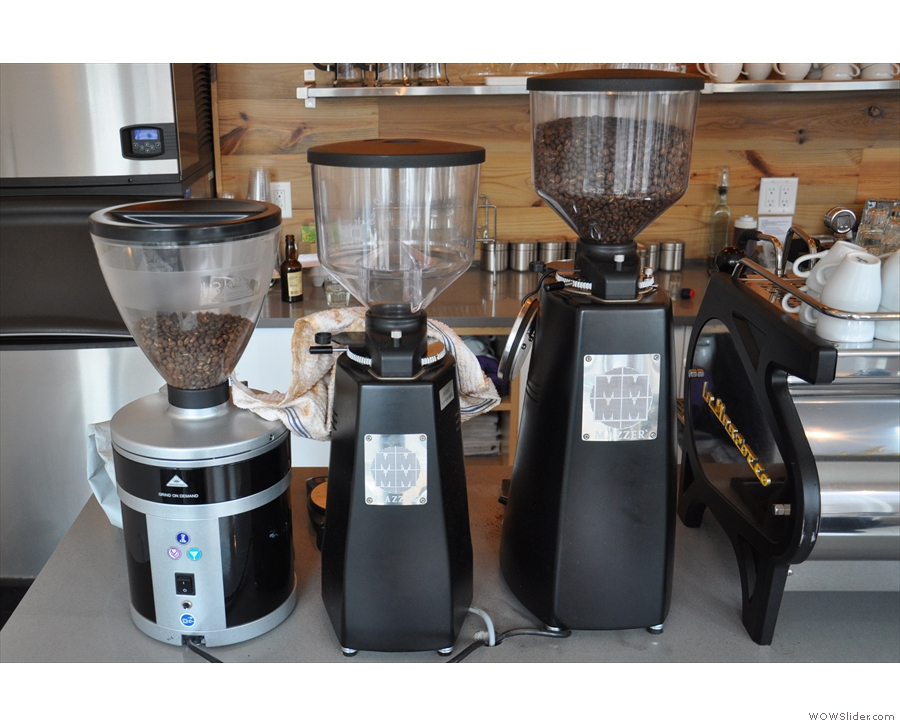 There are three grinders: decaf, guest & house (or is that mummy, daddy & baby grinder?)