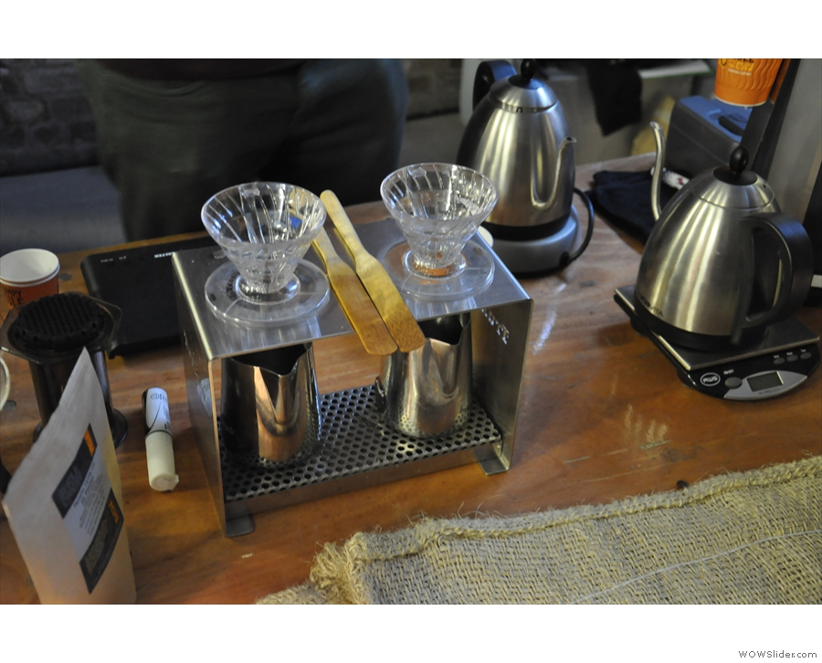 Then your method of choice (Aeropress, V60, Chemex or Cafetiere).