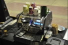 I loved the dinky one-group La Marzocco.