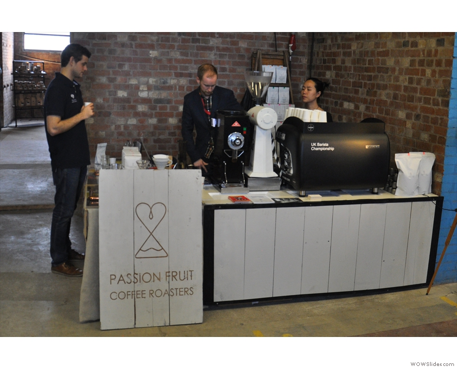 Next stop, local roaster, Passion Fruit.