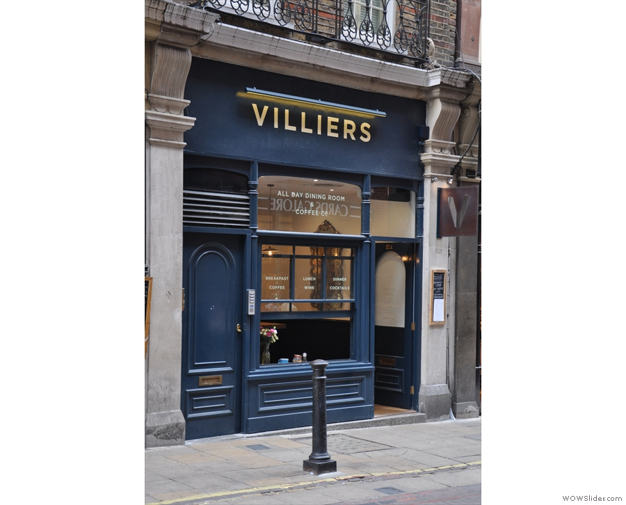 Villiers, on Villiers Street, as approached from Charing Cross...