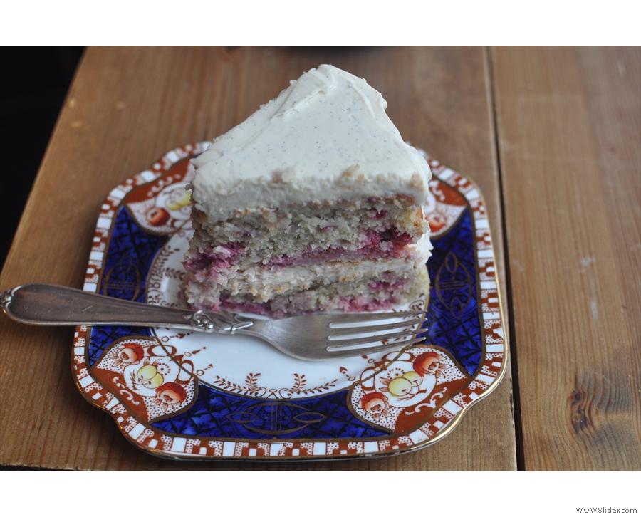... then cake (raspberry & almond).