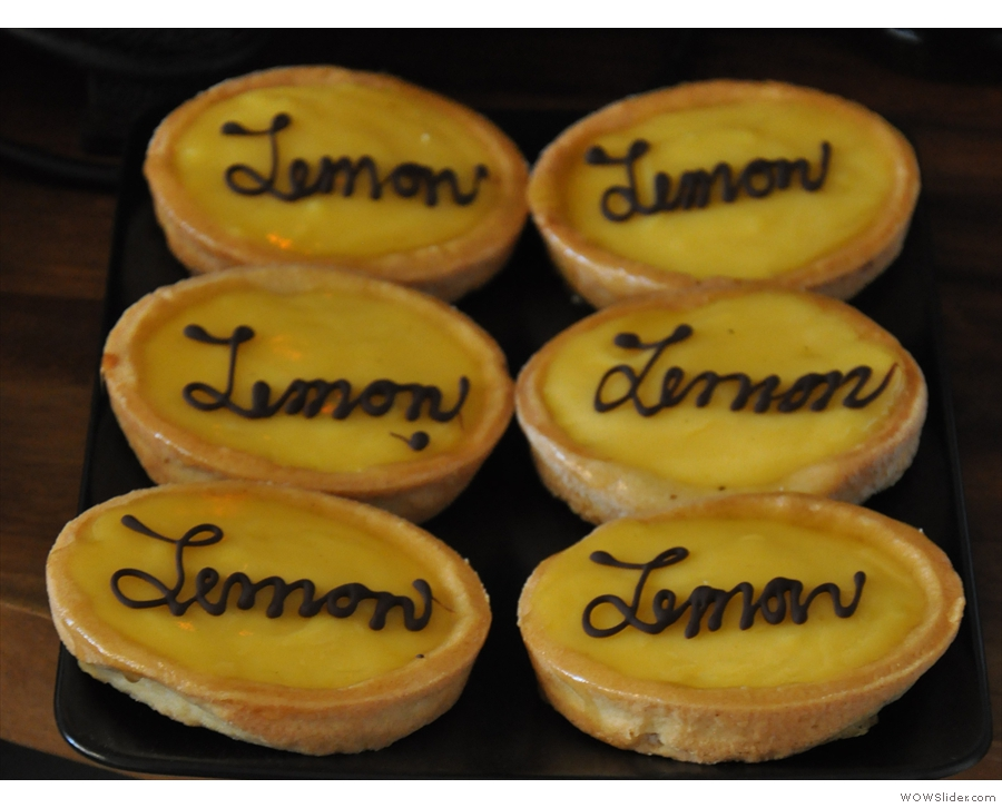 ... and my favourite, the lemon tarts.