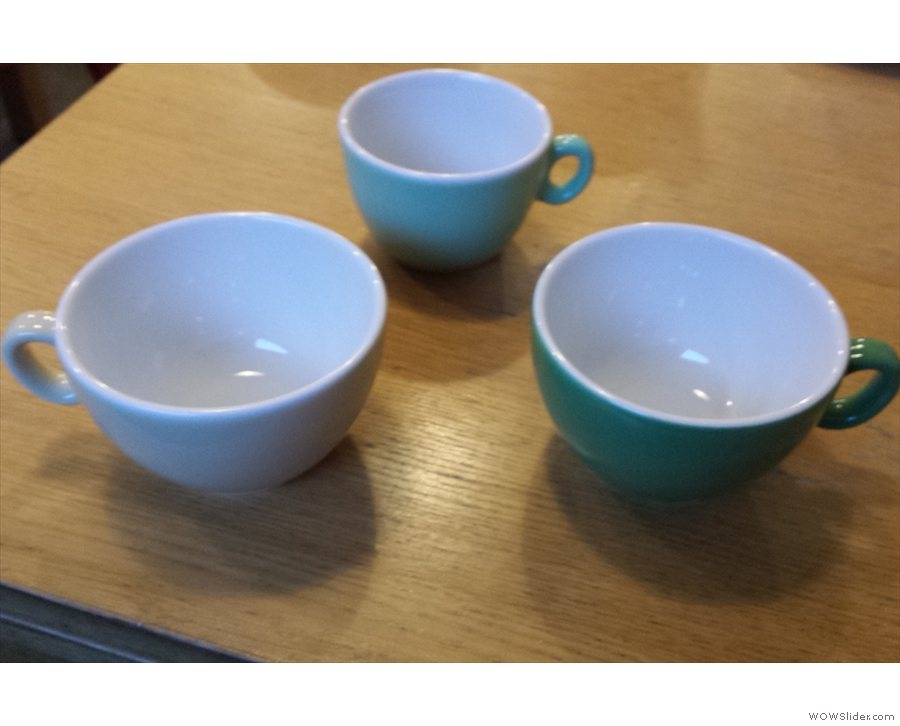 Steve knows my weaknesses too well, so he showed me the latest colours for the cups!