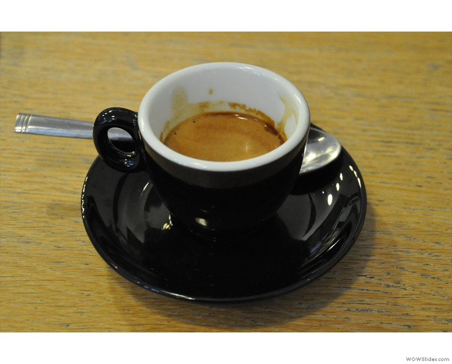 My Tiger Espresso from Steampunk Coffee.
