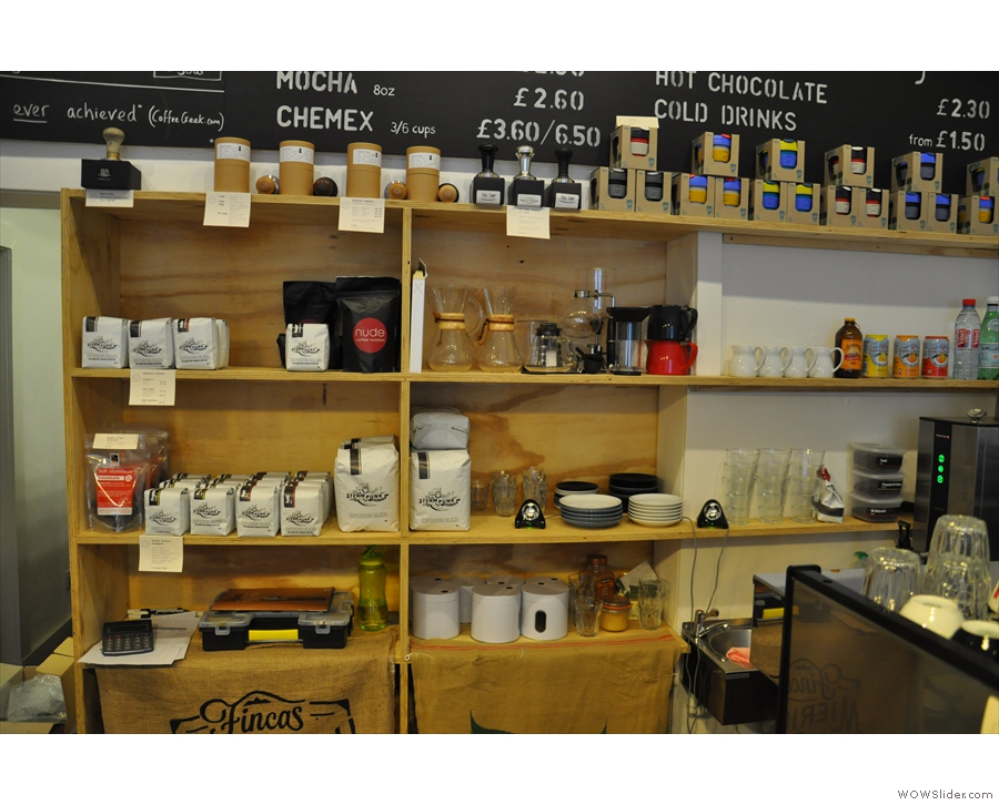 ... and yet more behind the counter.