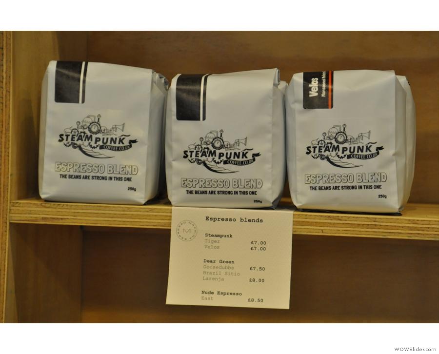 More espresso options.
