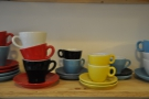 Above them are the beautiful Inker POR cups. There was much cup-coveting!