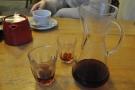 My coffee, an Ethiopian Sidamo from Bonanza (that wasn't on the menu). Kate had tea.