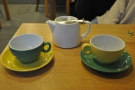 My friend Kate was taken with the teapot, then went all mix 'n' match with the cups!