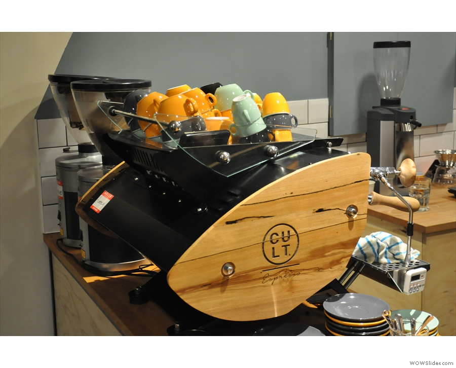 The beautiful Kees van der Westen espresso machine, affectionately known as Florence.