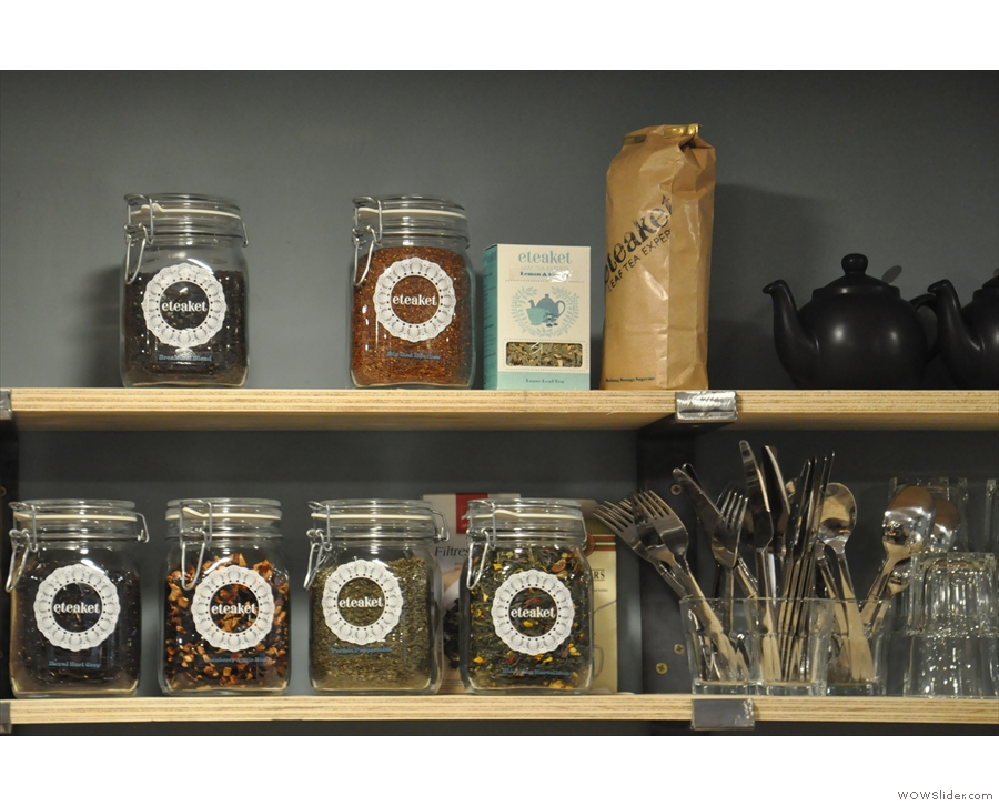 There's also loose-leaf tea from Edinburgh's very own Eteaket.