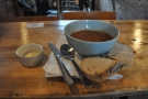 I was there for lunch and tried the soup, from Union of Genius. It was nice, but spicy!