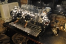 There's also this very festive-looking espresso machine.