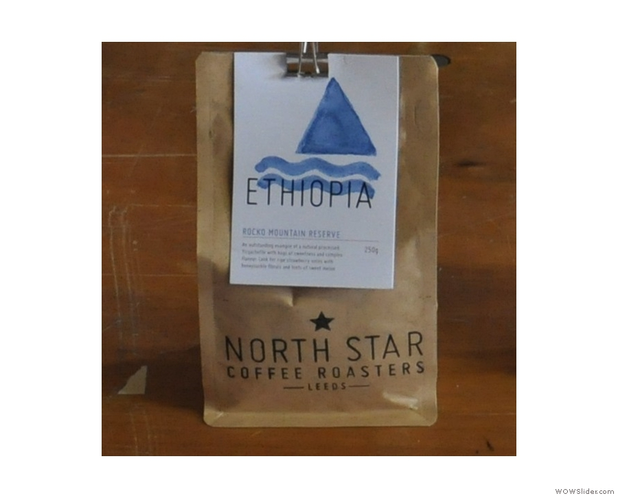 ... and new branding (in this case the Ethiopian beans).