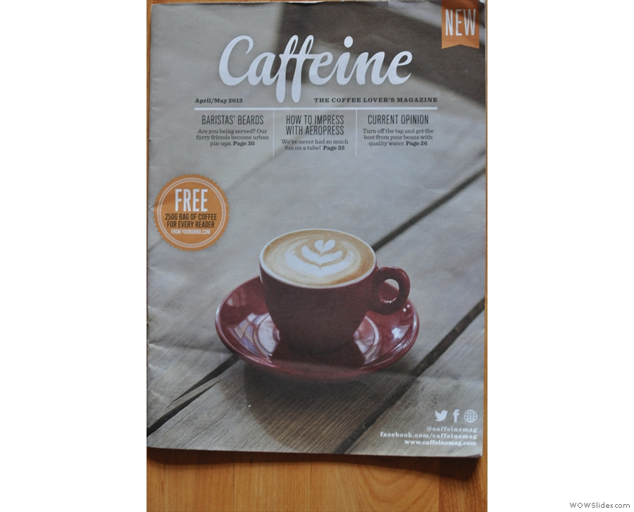 Issue 2: sticking with latte art on the cover.