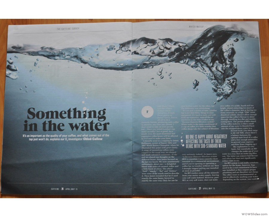 Chloe's excellent piece on the importance of water in Issue 2.