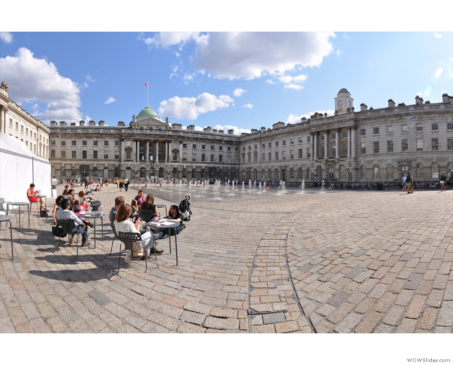 Fernandez & Wells, in the glorious setting of the Somerset House courtyard on a sunny day.