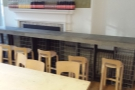 ... and another row of seats in front of it, this time in the form of a bar.