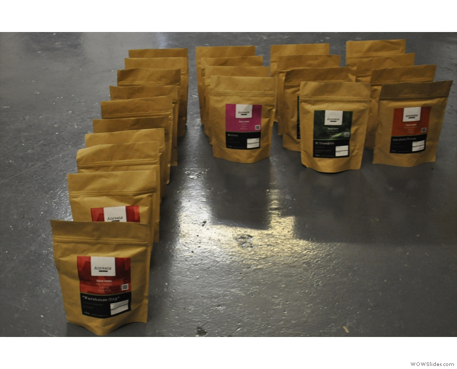 Put the two together, and this is what you get! The Ancoats range, minus the decaf.