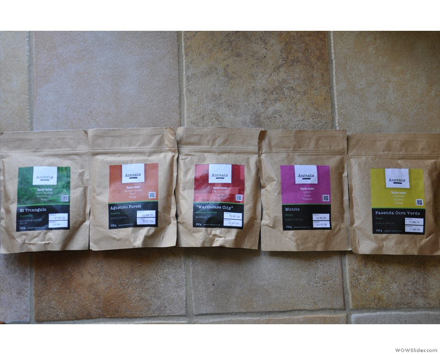 In fact, I left with a bag of each of the single origins, the espresso blend & the decaf!