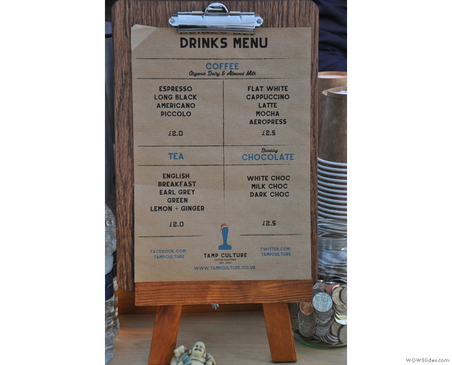 So, to business. A concise and unfussy menu.