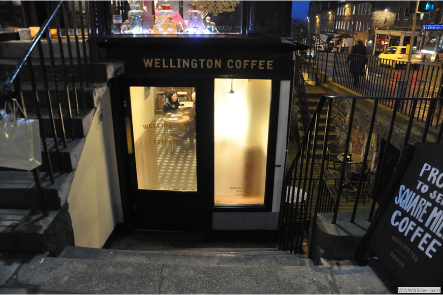 Down some steps leading off Hanover Street, you will find the delightful Wellington Coffee