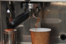 Roaster, coffee cart and wanna-be coffee shop, all in one at Reading's Tamp Culture.